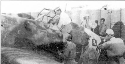 19 сентября а аэродроме Фука истребитель С.202 облетал Ганс-Иоахим Марсель (150 побед). Немец посадил на брюхо самолет Аннони, так как по ошибке выключил двигатель!