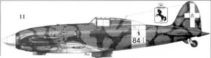 11. С.202 серии III MM7720 командира 84-й эскадрильи 10 Gruppo, 4 Stormo капитана Франко Луччини, Фука, сентябрь 1942г.