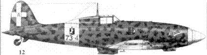 12. С.202 серии HI MM7720 серженте мажжоре Терезио Мартиноли, 73-я эскадрилья 9 Gruppo, 4 Stormo, Гела, июль 1942г.