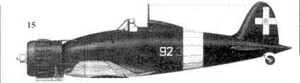 15. С.200 тененте Костантино Петросиллини, 92-я эскадрилья 8 Gruppo 2 Stormo, Сарцана, август 1943г.