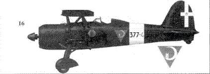 16. CR.42 тененте Луиджи Торчио, 377-я отдельная эскадрилья, Палермо, февраль 1943г.