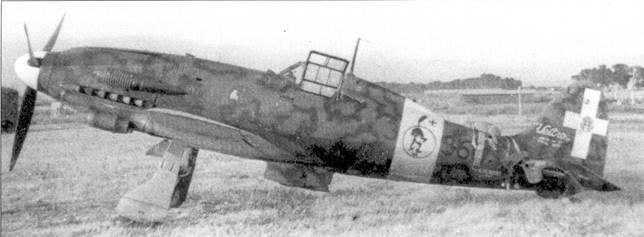 Истребитель С. 205 V из 360-й эскадрильи 155-й группы 51 Stormo, аэродром Монсеррат, Сардиния, март 1943г. В это время группой командовал майор Дуилио Финали. Фанили заслуженно считался ветеранам — его боевой дебют состоялся в Испании, где он летал ни штурмовиках. Фанили не стал асом, однако 4 августа 1940г. его жертвой оказался англичанин Питер Уикихэм-Бирнис (14 побед). Все три «Гладиатора» эвена Уикихэм-Барниси из 80-й эскадрильи RAt сбили итальянцы из 160-й эскадрильи, воруженнои бипланами CR.32. После окончания войны Финали одно время возглавлял министерство авиации Италии.