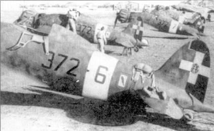 Истребители С.200 из 153-й группы, вероятно самолеты принадлежат 372-й эскадрильи, которая пересела ни С.200 с бипланов CR.42 весной 1941г.