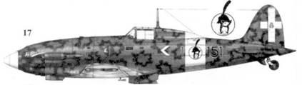 17. С.202 серии VII ММ9042 командира 151-й эскадрильи 20 Gruppo 51 Stormo капитана Фурио Николо Доглио, Гела, 27 июля 1942г.
