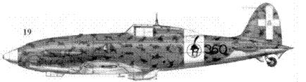 19. С.202 серии VI ММ8339 командира 360-й эскадрильи 155 Gruppo 51 Stormo капитана Карло Миани, Гела, август 1942г.
