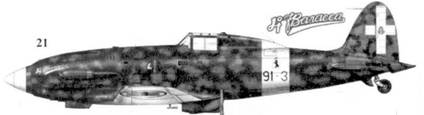 21. С.202 серии III MM7844 командира 91-й эскадрильи 10 Gruppo 4 Stormo капитана Карло Маурицио Русполи, Фука, сентябрь 1942г.