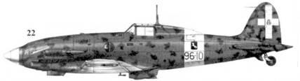 22. С.202 серии III MM7821 командира 96-й эскадрильи 9 Gruppo 4 Stormo тененте Эмануили Аннони, Фука, 19 сентября 1942г.