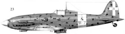 23. С.202 серии I MM79IO маресчиалло Алессандро Бладелли, 91-я эскадрилья, 10 Gruppo 4 Stormo, Фука, сентябрь 1942г.