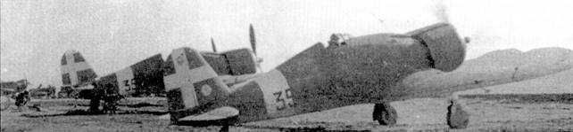 Вместе с устаревшими CR.42 на греко-албанском фронте действовали более современные истребители С. 50 из 354-й эскадрильи 154-й отдельной группы.