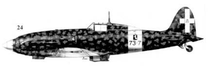 24. С. 202 серии III MM7944 командира 73-й эскадрильи 9 Gruppo 4 Stormo тененте Джулио Рейнера, Фука, август 1942г.