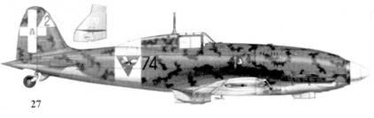 27. С.202 серии I MM7913 командира 74-й эскадрильи 23 Gruppo 3 Stormo тененте Джорджио Солароли, Тунис, январь 1943г.