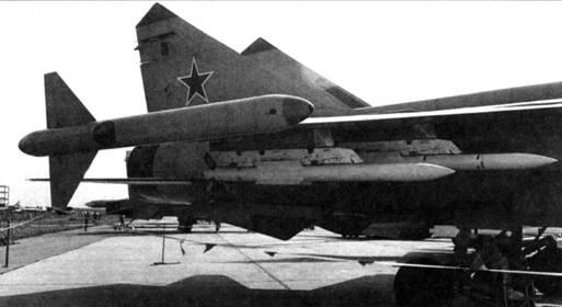 Р-77 в составе вооружения перехватчика МиГ-31 М