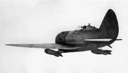 И-16 с бомбами после отделения от самолёта-носителя.