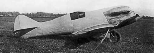 «Сталь-6» в НИИ ВВС 1934г. Фюзеляж самолёта закрыт чехлом.