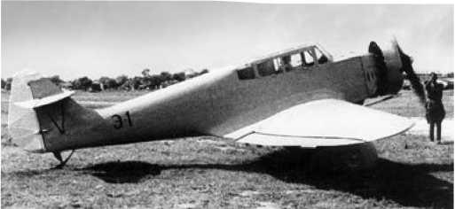 Э-1 с закрытым капотом двигателем, 1937г.
