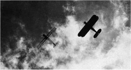 Сравнение визуальной заметности самолётовУ-2 и ПС.