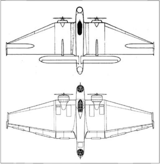 Первоначальный и окончательный варианты самолёта ВС-2.