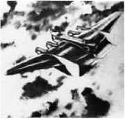 Бомбардировщик ТБ-3 в варианте «бесхвостки».Рисунок П.И. Гроховского