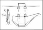 Проект пассажирского самолёта В.Н. Беляева.(«Техника воздушного флота», 1935, №8, с. 99).