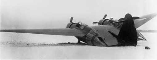 Самолет после аварии 24 ноября 1939г.