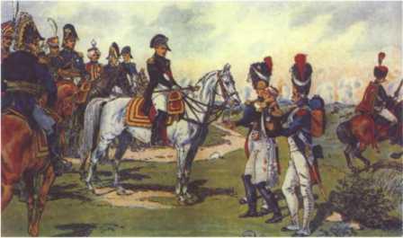 «Отказ пленного генерала П.Г. Лихачева принять свою шпагу из рук Наполеона». Худ. А. Сафонов.
