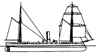 "Монитор ""Арминиус"" (Наружный вид. 1867 г.)"
