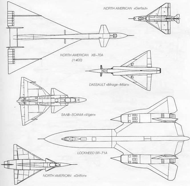 Формы треугольного крыла сверхзвуковых самолетов