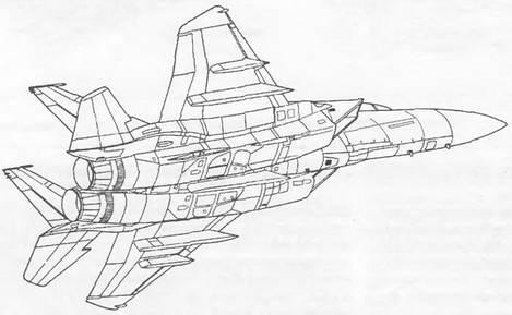 F-15 с дифференциальным стабилизатором, имеющим уступ передней кромки