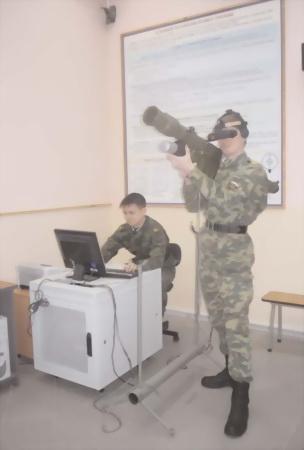 Рис.87. Тренировка стрелков-зенитчиков на УКТ