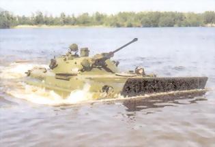 Рис.93. БМП-2 на плаву