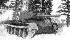 Третий прототип Т-44, вооруженный 122-мм орудием Д-25-44.