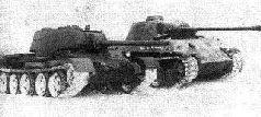 """Сравнение силуэтов танков Т-34, Т-44 и """"Пантера""""."""