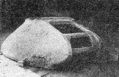 Отливка башни опытного образца модернизированного танка ИС.1944 г.