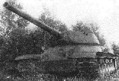 """Танк """"Объект 701"""" № 1 со 122-мм орудием C-34-II спереди.1944 г."""