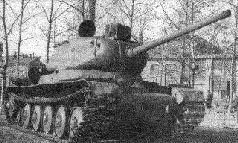 """Испытания 122-мм орудия Д-30 и ходовой части """"Объект 252"""" на танке ИС. 1944 г."""
