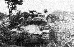 Танк М4А3 1-го танкового батальона морской пехоты США в засаде. Сентябрь 1950 г.