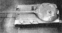 """Опытный образец танка """"Объект 416"""" сзади-сверху. 1950 г."""