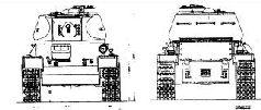 Продольный разрез танка Т-43-II. Лето 1943 г.