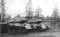 Испытания танка Т-34 с башней Т-43 на погоне 1600-мм и 85-мм пушкой Д-5Т, 1943 г.