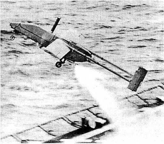 Запуск беспилотного аппарата «Пионер» с борта линкора во время войны с Ираком
