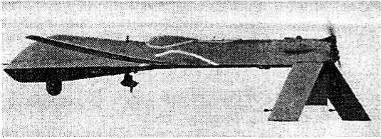 БПЛА «Предатор»» в полете; три шасси убраны