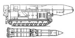 Самоходная ПУ и ракета комплекса РТ-15
