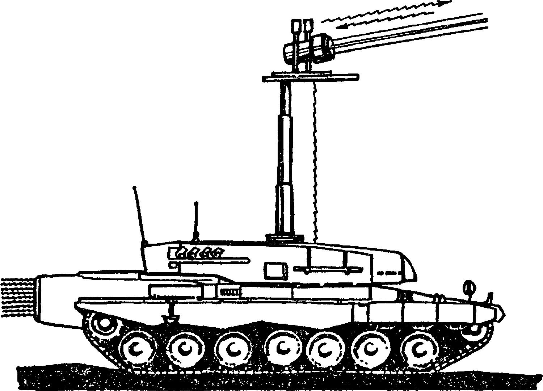 Одна из <a href='https://med-tutorial.ru/m-lib/b/book/3239510375/19' target='_blank' rel='external'>экспериментальных</a> боевых машин, вооруженная лазером