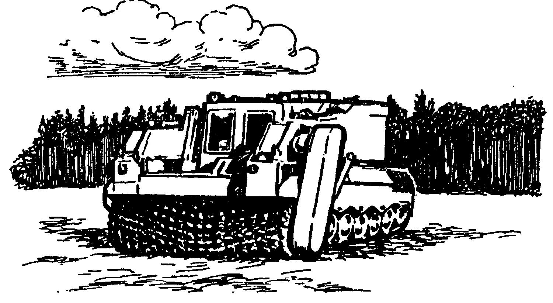 """Разработанная фирмой """"Бофос"""" машина для разминирования может управляться как экипажем, так и дистанционно"""