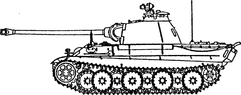 Средний <a href='https://arsenal-info.ru/b/book/3501690473/2' target='_self'>немецкий танк</a> PzKpfw VAusf.AG времен Второй мировой войны