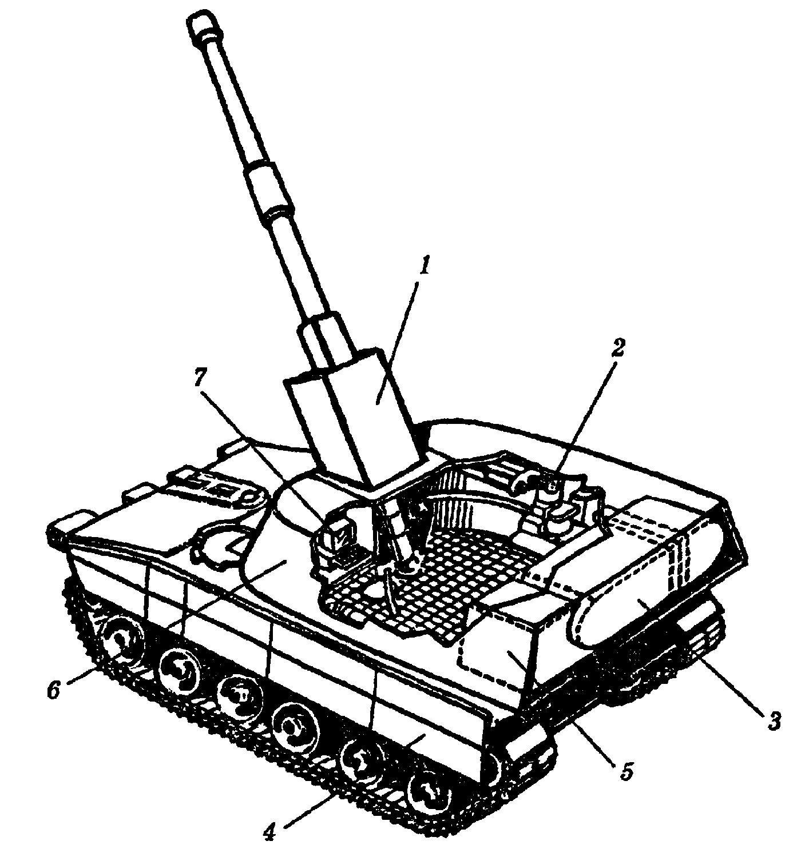 """Эскизный проект 155–миллиметровой самоходной гаубицы фирмы """"Дженерал Электрик"""": 1"""