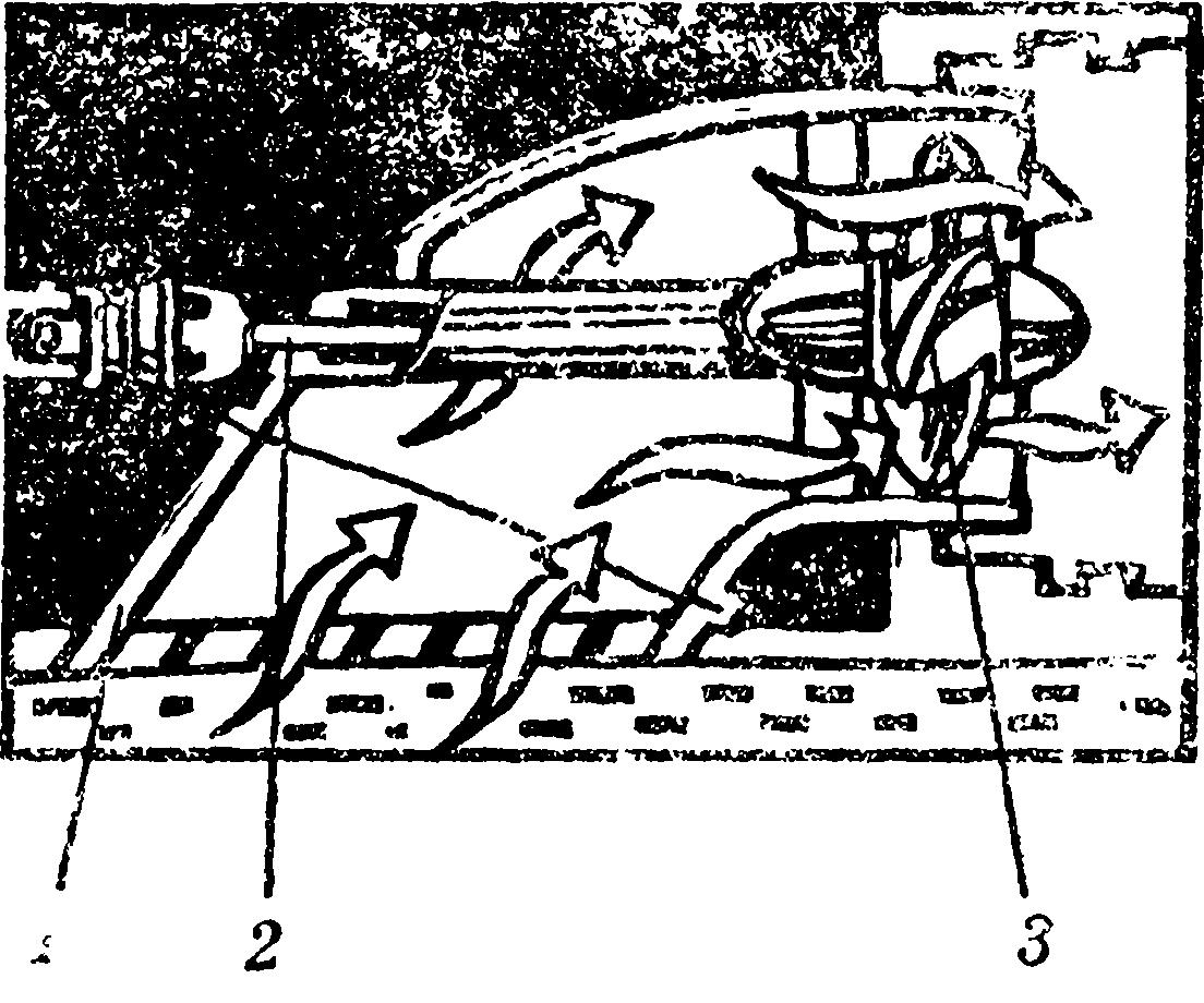 Схема водометного движителя: 1