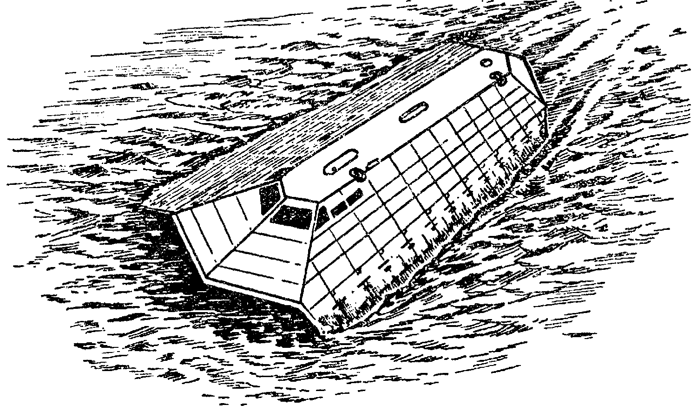 """Экспериментальный корабль """"Си Шэдоу"""", в конструкции которого были использованы элементы технологии"""