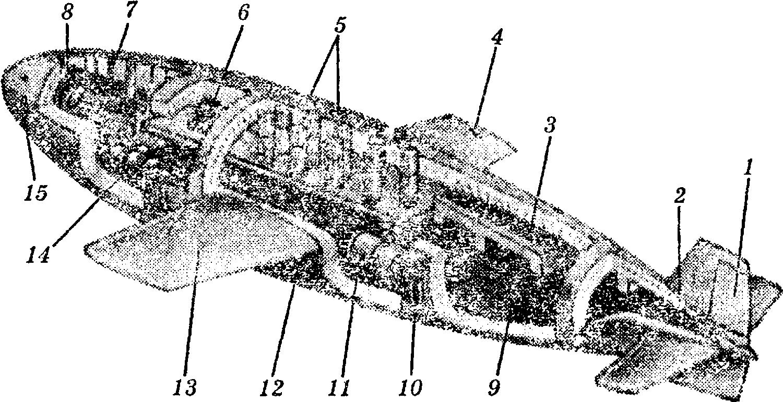 Схема бетонной подлодки: 1
