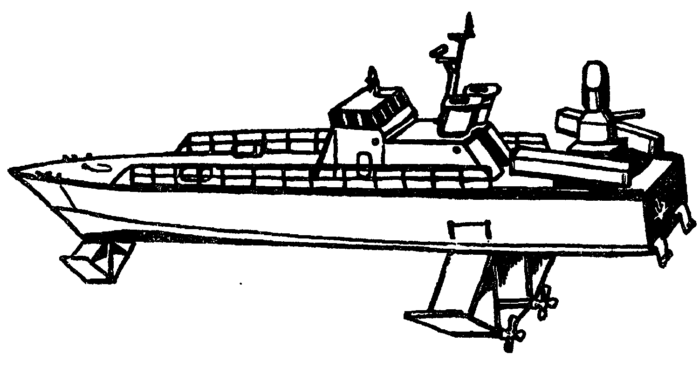 Проект патрульного катера на подводных крыльях